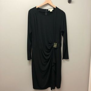 Michael Kors black midi dress 1X